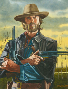 Image is loading CLINT-EASTWOOD-OUTLAW-JOSEY-WALES-ART-PRINT 5710f10236f