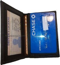 New Leather Business And Credit Card Case Card Holder With 3 Card Slots3 Ids Bn