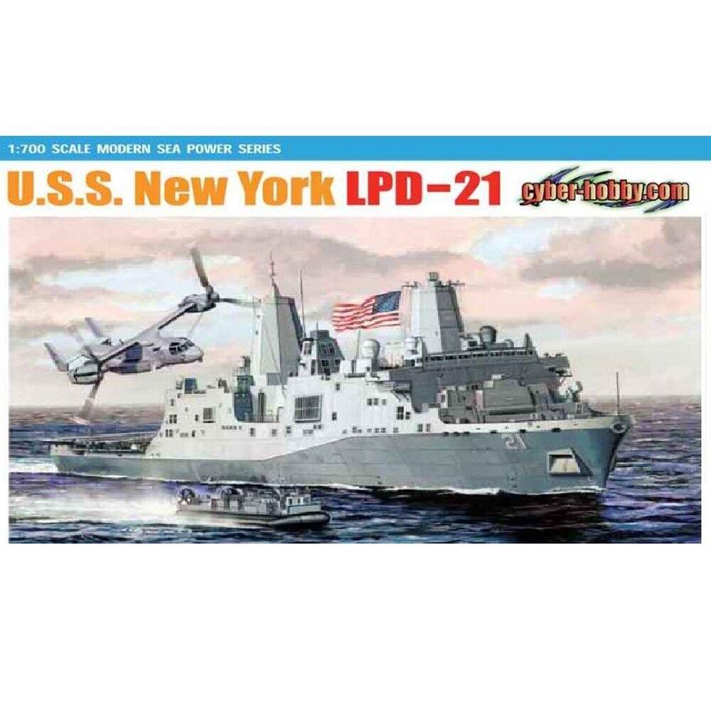 Dragon 1 700 7110 U.S.S. New York LPD-21 Model Kit