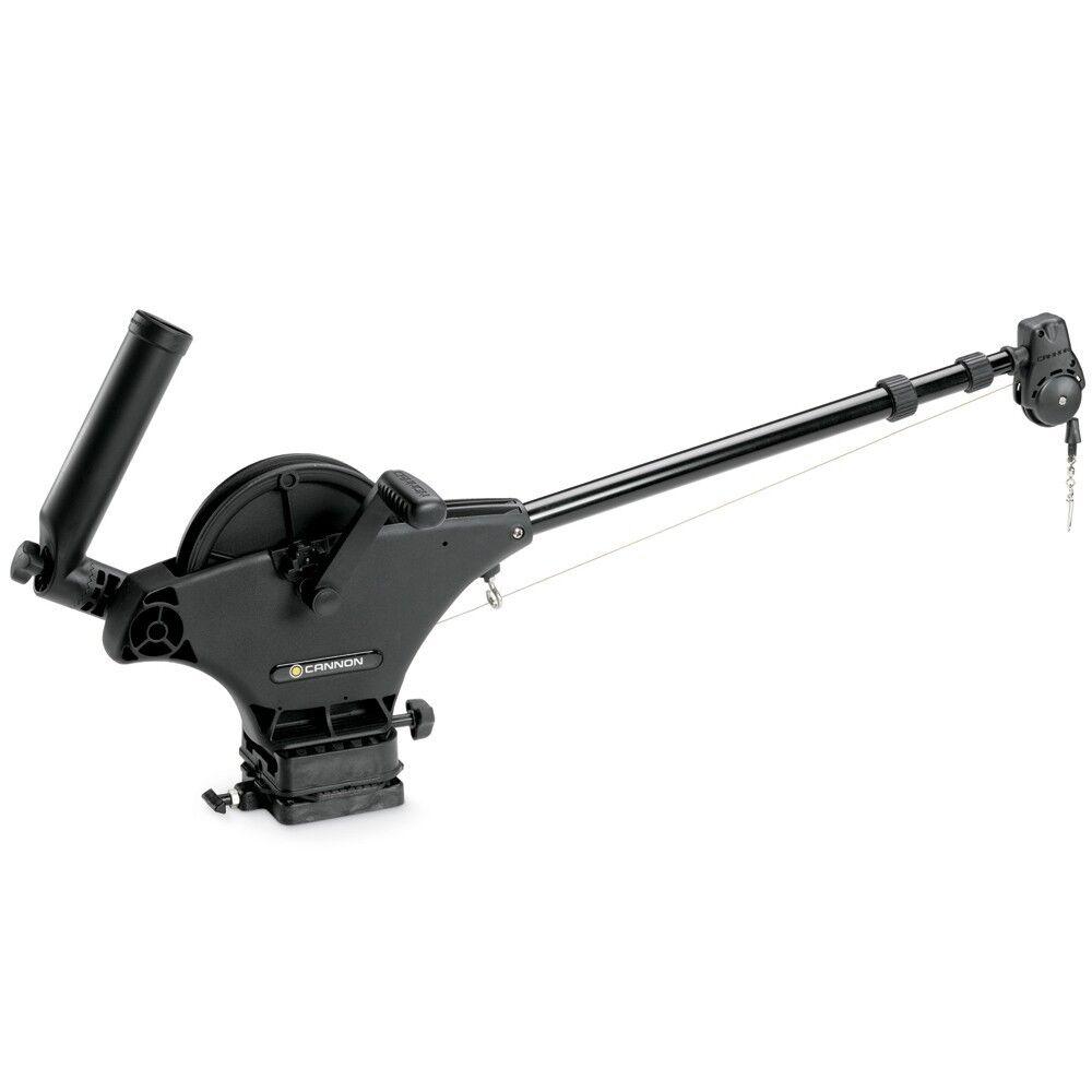 Cannon Uni-Troll 10 STX Manual profundizador pre-bobinado con 200' 150lb cable de manga corta de prueba