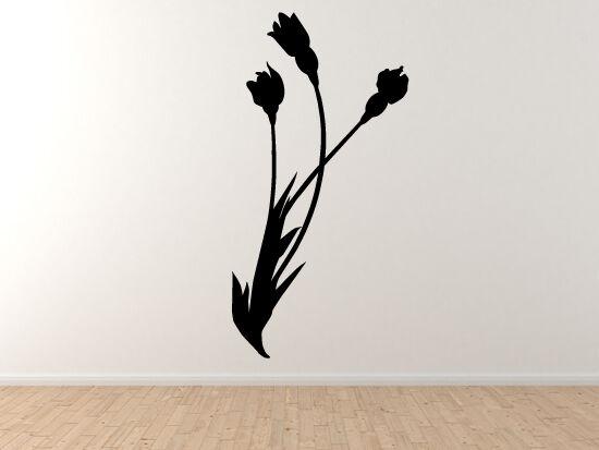 Fantasy Mythology - Enchanted Flowers Tulips Leaves Stem - Vinyl Wand Decal