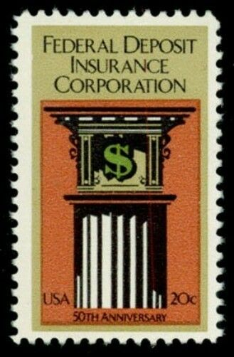 1983 20c Federal Deposit Insurance Corporation, 50th Sc