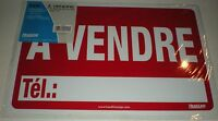 Sign A Vendre 8 X 12 Red Phone Number Vinyl Letters Headline 083392094024 9402