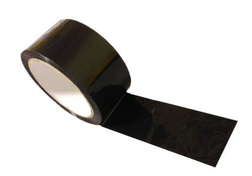 6 x Black Tape Adhesive Parcel Packing Packaging 48mm x 66m