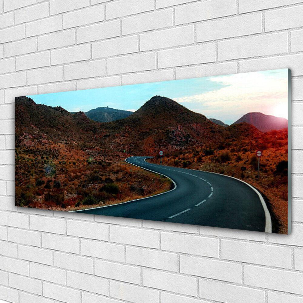 Acrylglasbilder Wandbilder aus Plexiglas® 125x50 Gebirge Straße Landschaft