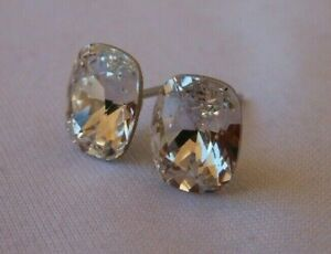 Silver-Deer-HYPOALLERGENIC-Stud-Earrings-Swarovski-Elements-Crystal-in-CLEAR