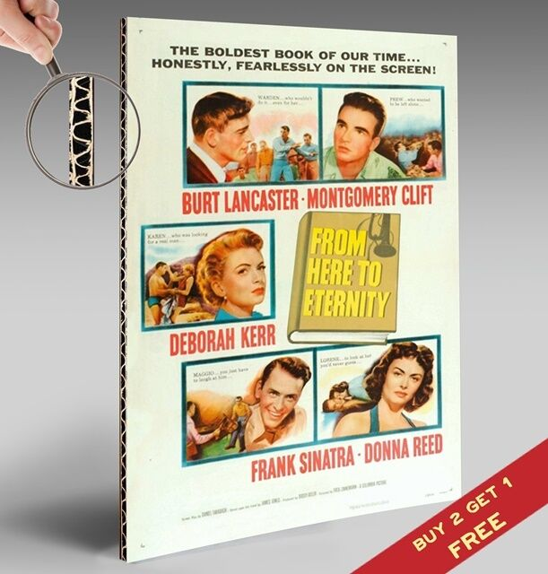 FROM HERE TO ETERNITY MOVIE POSTER * 1953 * Classic Vintage Picture A4 Size