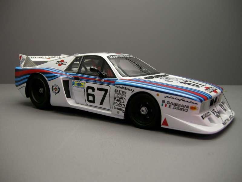 Top marques 21 quater lancia beta montecarlo turbo modèle voiture de course le mans 1981 1 18 ème