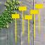 Plant Lables Medium 15cm Large 35cm Pro Garden Range Yellow For Specimen Plants