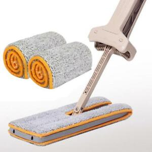 Double-Sided-Non-Hand-Washing-Mop-Accessories-Dust-Push-Mop-Cloth-Clean-Tool-NEW