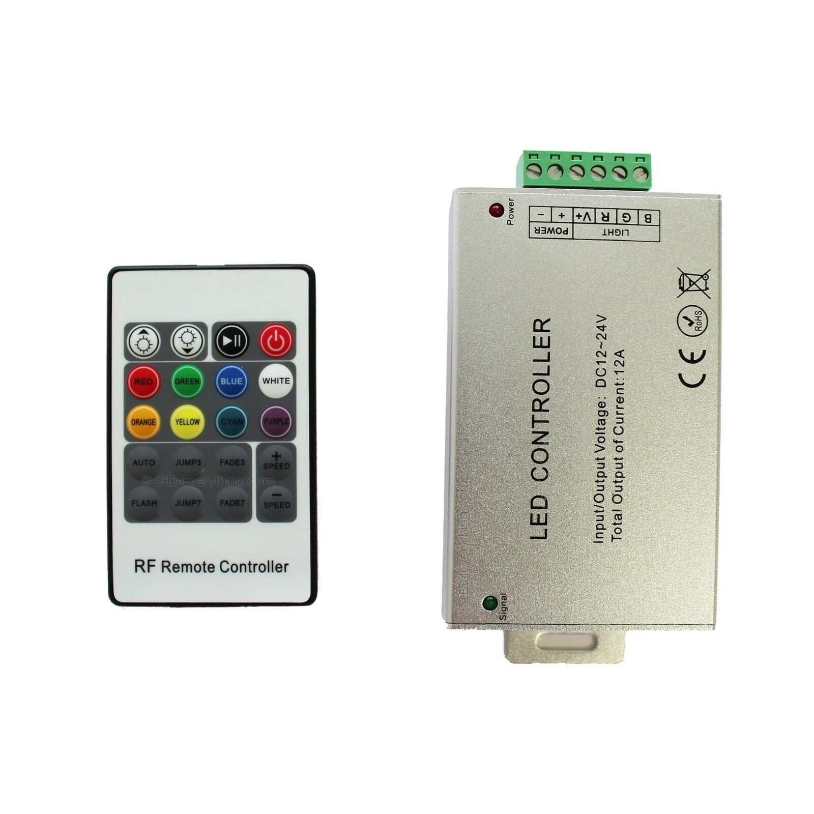 20 Key Rf Remote Wireless Rgb Controller Dc 12v 12a For Smd 5050 Led Strips With Keys Control 3528 Strip