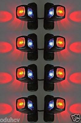 8x Side Marker LED  12V 24V Lights Chassis Bus Trailer Truck for SCANIA DAF MAN