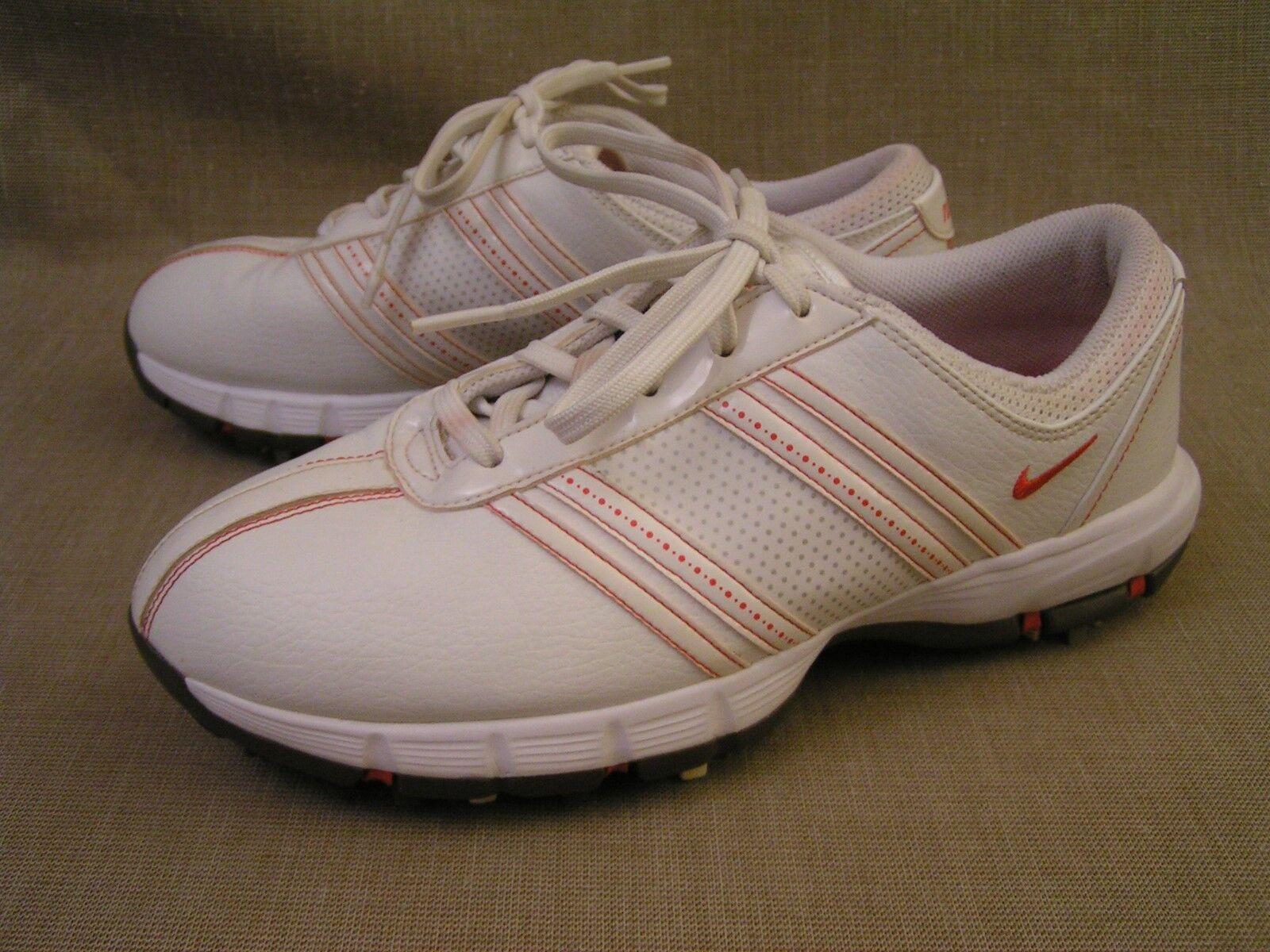 Nike Womens Delight White & Red Golf Cleat Tac Spike Shoes 317622-161 Sz. 8 EUC Seasonal clearance sale