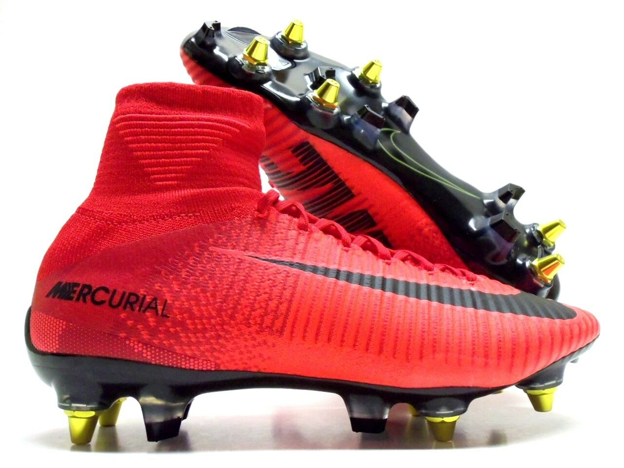 NIKE MERCURIAL SPFLY V DF SG PRO AC SOCCER CLEAT RED SIZE MEN'S 11 [889286-616]