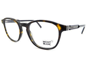 MONT-BLANC-men-039-s-Brown-Tortoise-Round-Spectacles-Glasses-Frame-MB0632-056