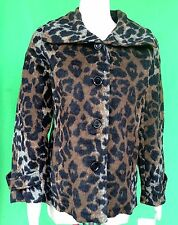NWT J S lady women Leopard 41% wool blend outwear jacket coat  size--XL