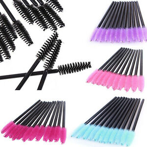 100Pcs Disposable Mini Eyelash Eye Lash Makeup Brush Mascara Wands Applicator