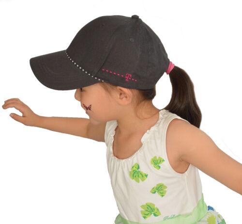 1 Kid Girl Diamante Love Heart Baseball Outdoor Sports Sun Hat Adjustable Cap