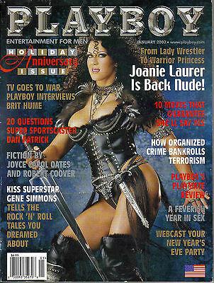 Playboy Magazine January 2002 Brit Hume, Nicole Narain, Joanie Laurer WWF