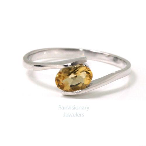 Birthstone Mother/'s Ring Sterling Stackable Citrine November Gemstone .925