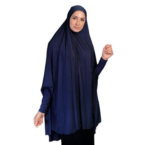 Khimar Large Hijab Scarf Long Voile Niqab Musulman Amira prière burqa Islam Jilbab