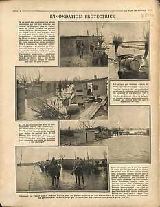 Inondation-Watergands-de-l-039-Yser-Plaines-d-039-Ypres-Albert-Ier-de-Belgique-1916-WWI