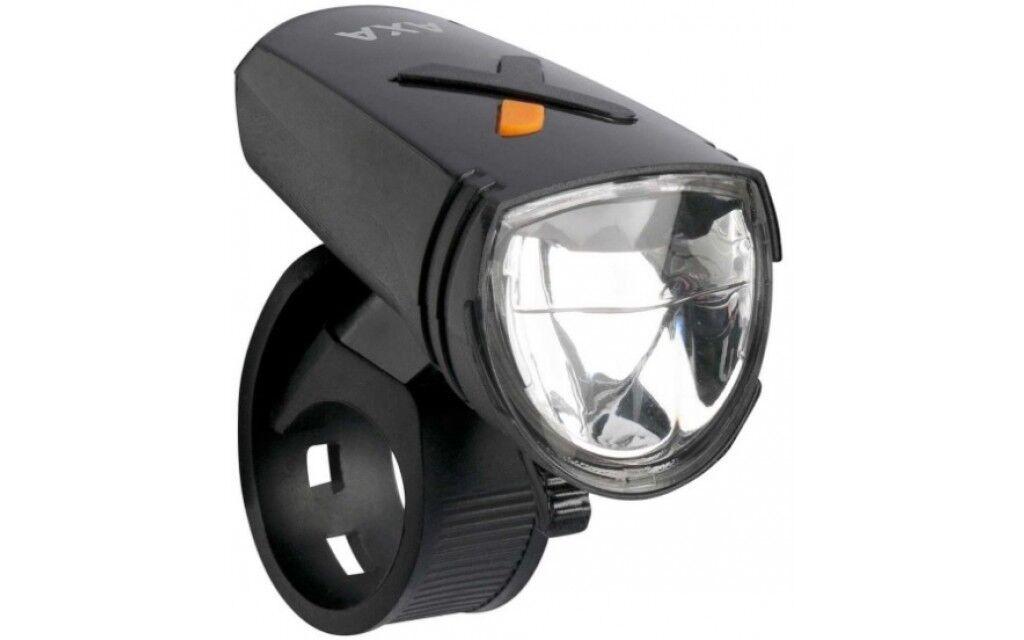 Scheinwerfer Fahrrad Beleuchtung Licht AXA Greenline 15 Lux USB