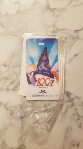Disney Luggage Tag 100 YEARS OF MAGIC Walt Disney Travel Co Holograph New NIP