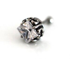 3d Skull Fake Plug Krone Strasstunnel Silber Ohrstecker Ohrring Rock Gothic Ø 1 Kaufen Sie Immer Gut
