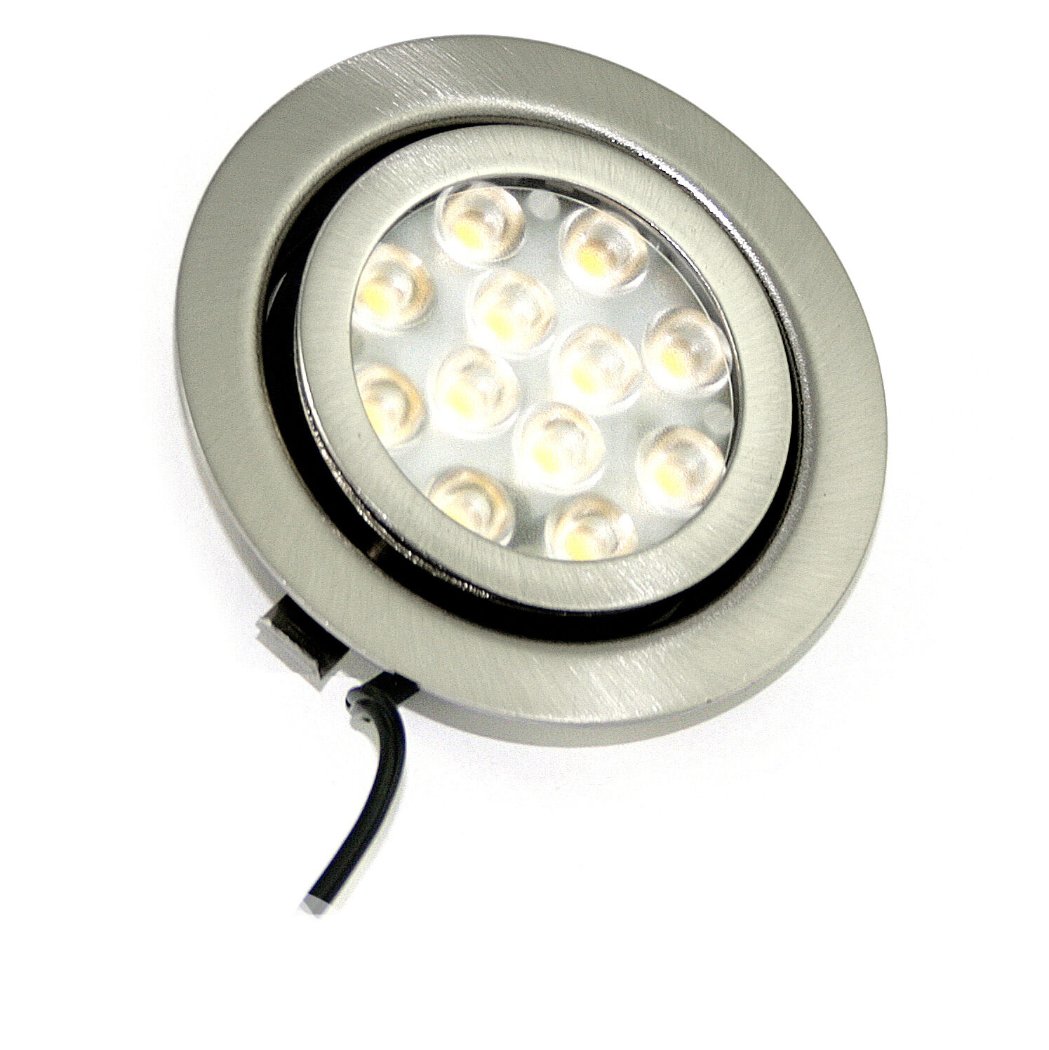 1-- 10er Sets LED Möbel-Spots Einbauleuchten Inge 3W - 20°schwenkbar + LED-Trafo
