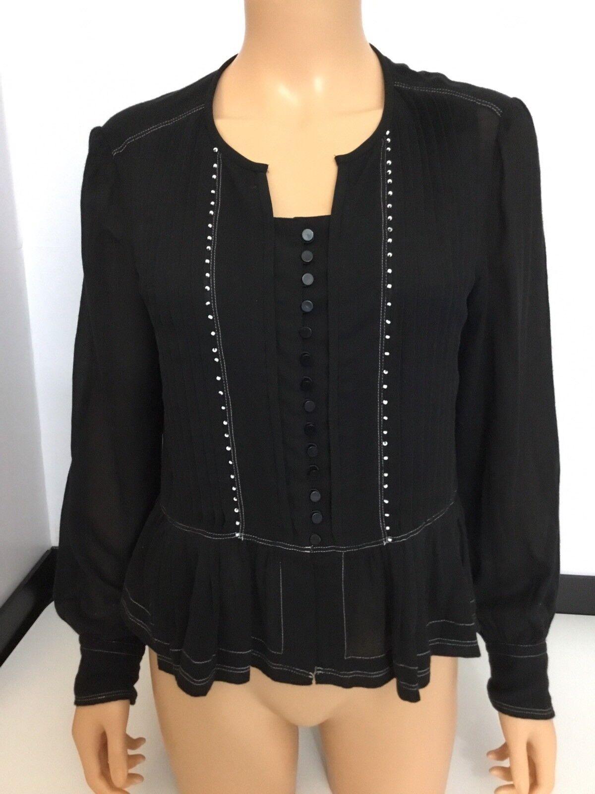 Isabel Marant schwarz Blouse Shirt Top Größe 38 Long Sleeve