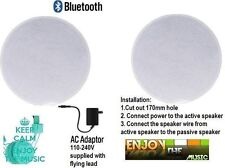 Wireless active Bluetooth Ceiling Speaker dual kit 60 Watts with 1inch silk Dome