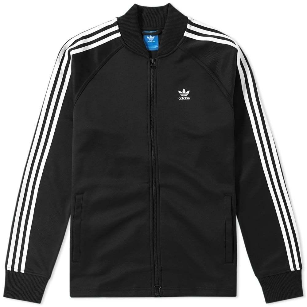 Adidas Originals da Uomo Moda Giacca Tuta Giacca con Zip Bq1890 Nero