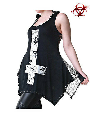 JAWBREAKER OCCULT GOTHIC FETISH CROSS ILLUMINATI DEATH METAL TANK TOP GOTH SHIRT