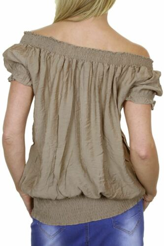Gypsy Style Tunic Casual Top Beige Womens 8-12