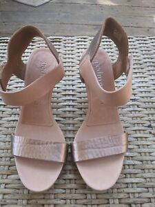 Womens Pedro Garcia rose gold ankle strap High Heel Sandals Size 39.5