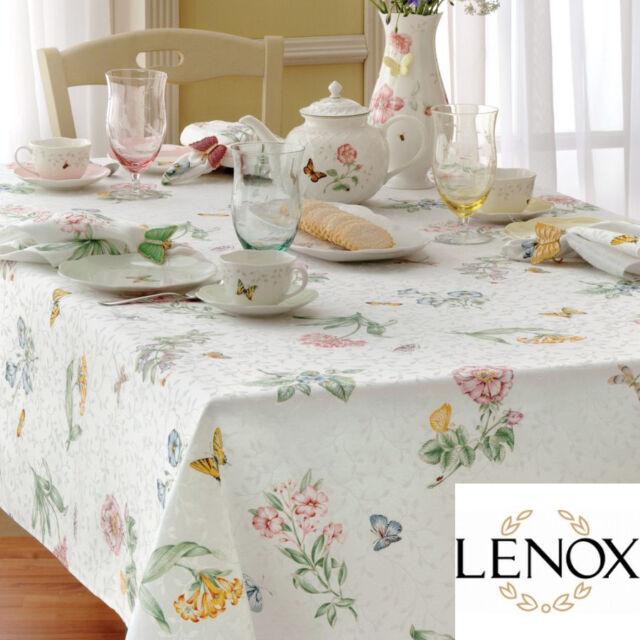 Lenox Butterfly Meadow Harvest Pumpkin Tablecloth or Runner U Pick Hydrangea
