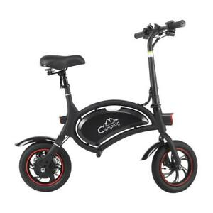 """E-Bike Urban Commuter Foldable 12"""" 36V 6Ah Electric Cycle Bicycle Short Rides"""