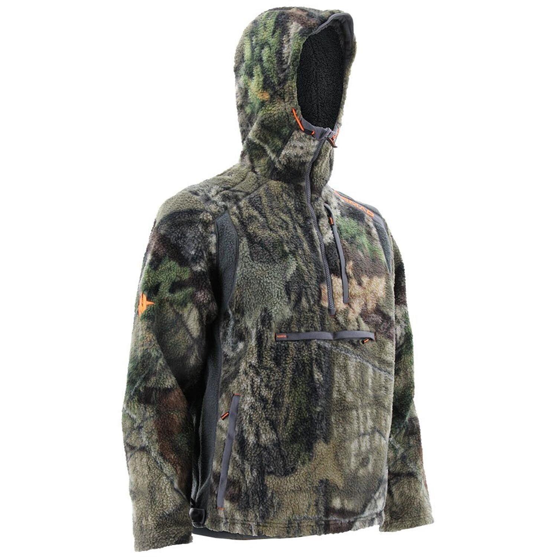 Nomad Cottonwood 1   4 cremallera, suéter, musgo, roble, talle de campo.