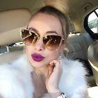 2017 NEW Women Fashion Cat Eye Oversized Sunglasses Vintage Designer Metal Frame