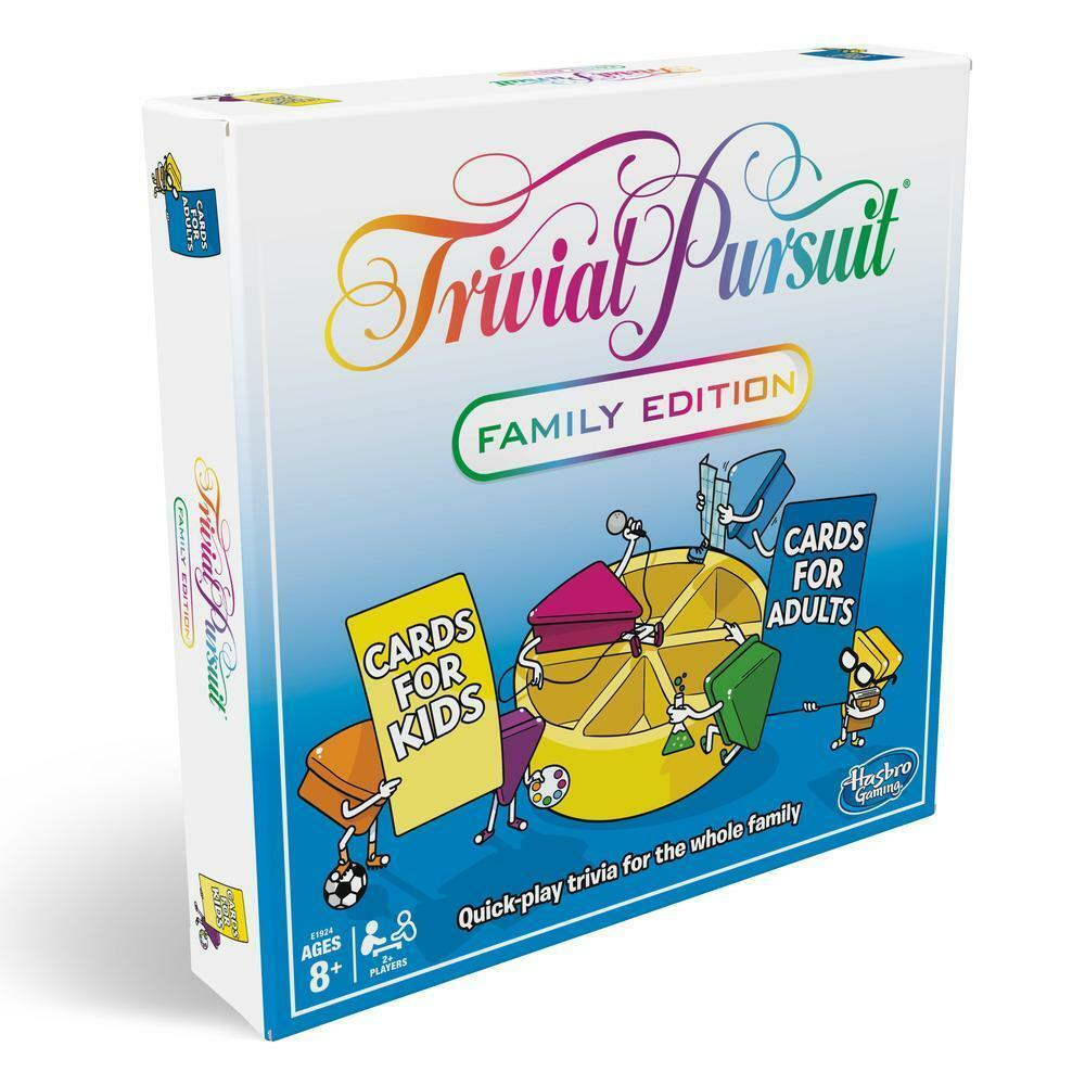 Hasbro Trivial Pursuit Family Edition Adult Board Game 2400 Questions 8 Years+