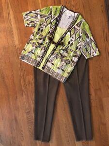 0 8 Cardigan Chico's 10 1 1 Outfit EUC pantaloni Nwot Collana Top; Women 5 tRXRqIA