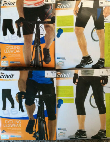 Homme Crivit Cyclisme Shorts//Pantalon noir L XL Shorts ou Longueur 3//4