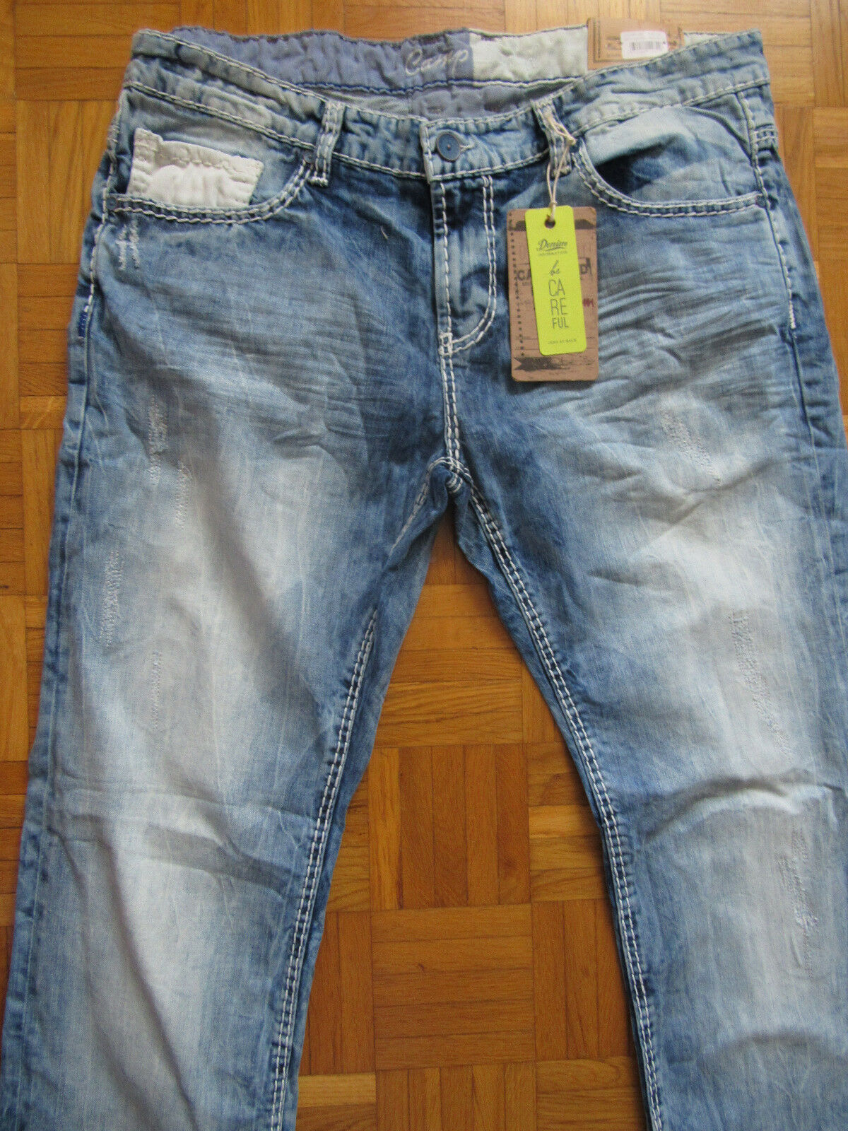 100% Camp David Herren Jeans Modell; Denim CD FS light Vintage used ;W 30 L32