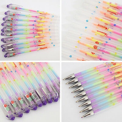 10 PCS/6 colors cute gel pens Markers for Office Novelty Ink Pen chalk