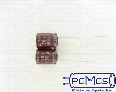 30 Pcs of NCC KY Series 35V 100UF minimize ESR Japan Make Capacitor 6.3x11