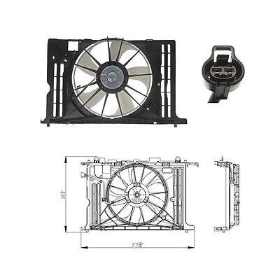 2003-2008 Toyota Corrolla Dual Rad /& Cond Fan Assembly Fits Matrix 1.8L