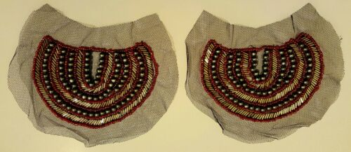 HALF MOON SHAPED ONE PAIR IN PACK MESH PATCHES//MOTIFS BEADED