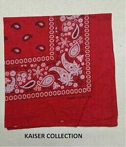 Lot  Of 12-Pasley Print 100 /% Cotton Bandanas Scarves 22 X 22 Multi color