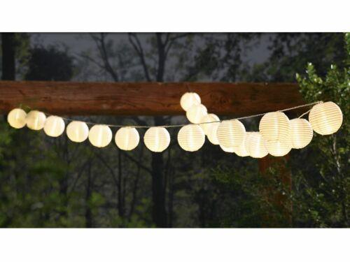 MELINERA LED-Sommerlichterkette LED Sommer Partylicht 20 Lampions Weiß oder Bunt
